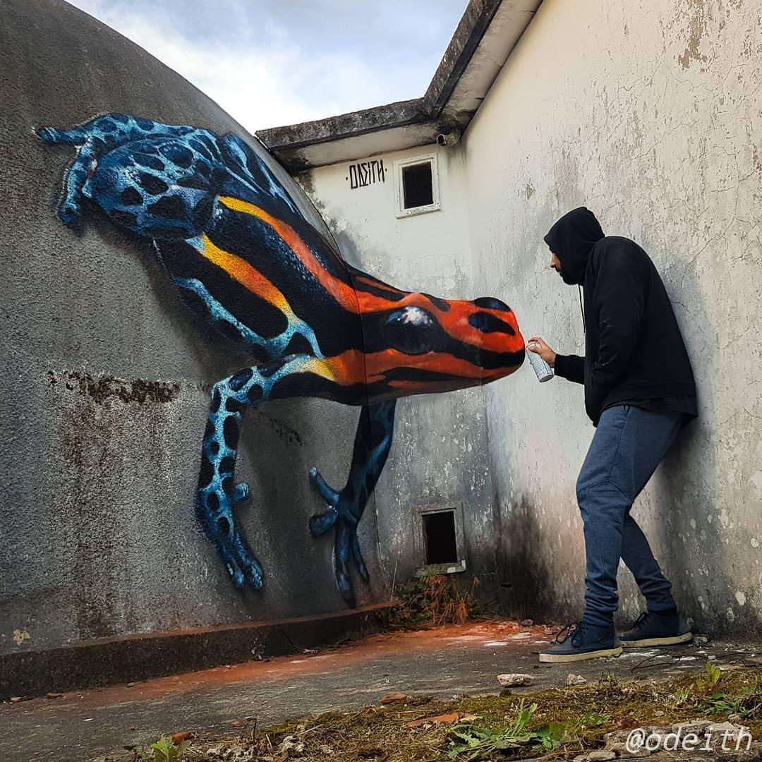 1565697706 121ad33043804764af47a545b3fe4b91 - 20 работ художника, который превращает невзрачные стены в невероятно реалистичные 3D-граффити