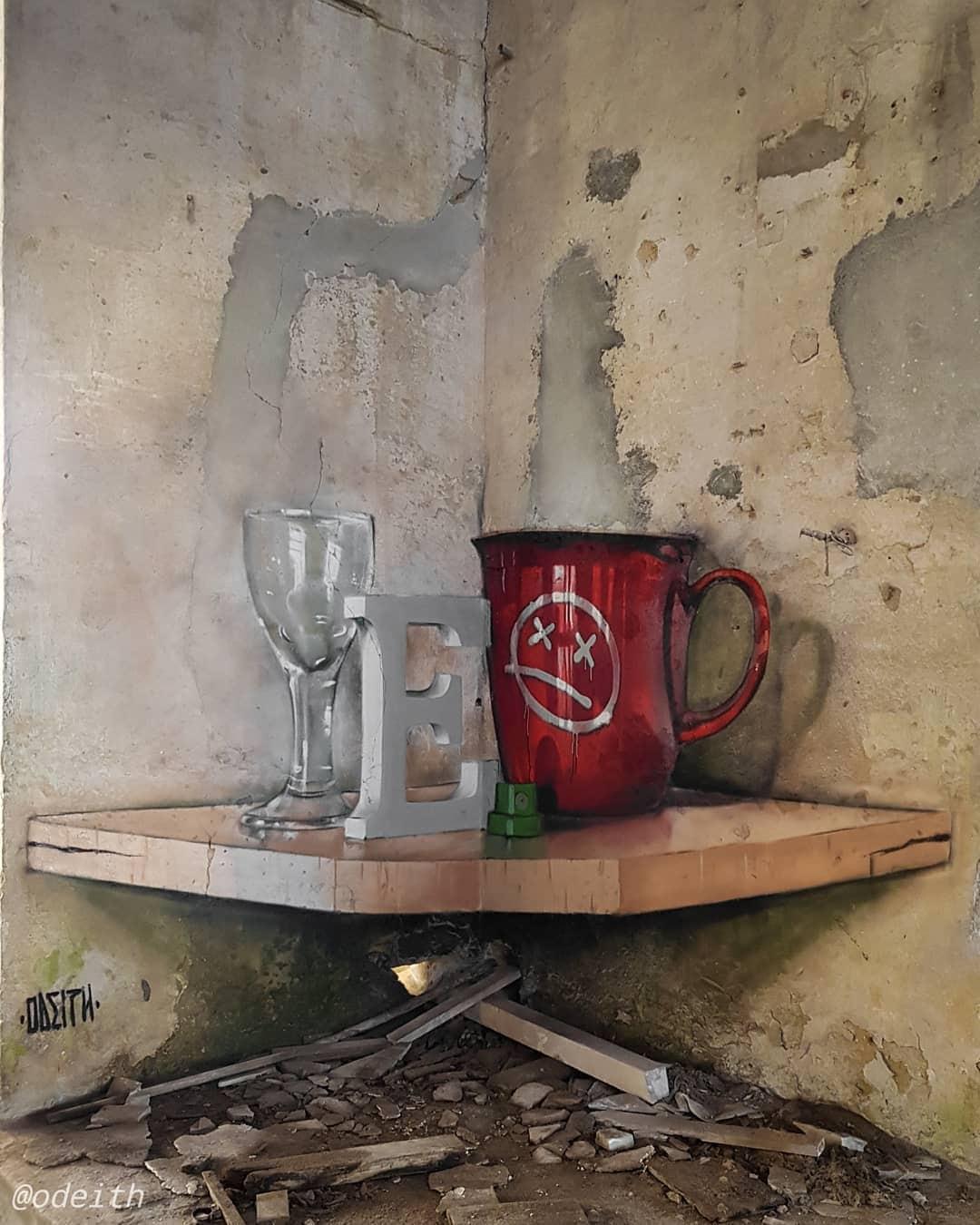 1565697708 293ca4609de40c7c67860463916dbe06 - 20 работ художника, который превращает невзрачные стены в невероятно реалистичные 3D-граффити