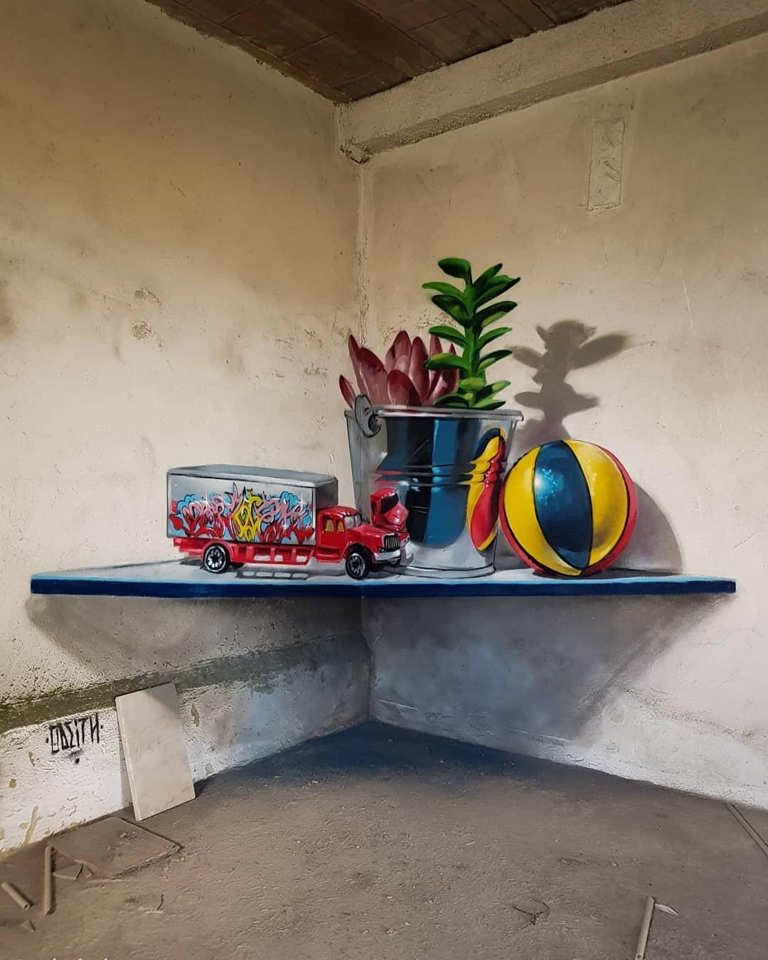 1565697709 5338adbb21c90b968176cccc9bde9aa7 - 20 работ художника, который превращает невзрачные стены в невероятно реалистичные 3D-граффити