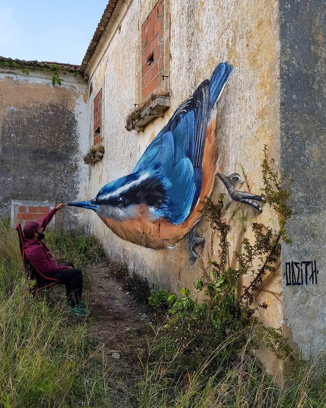 1565697710 f2a57d8906d352185345278f6d6809b6 - 20 работ художника, который превращает невзрачные стены в невероятно реалистичные 3D-граффити