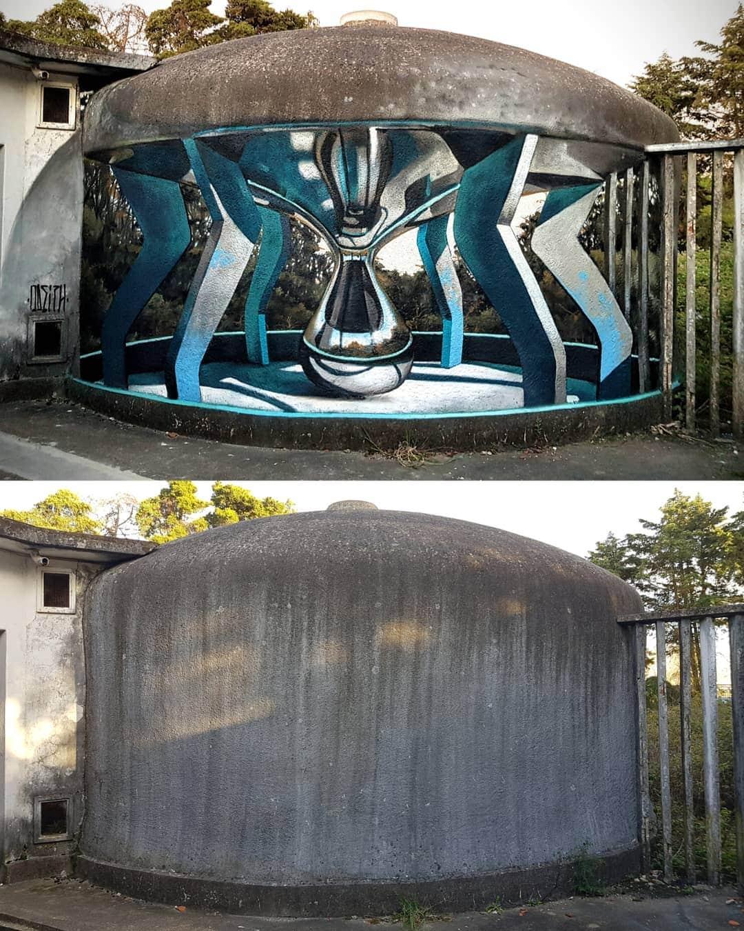 1565697715 338920fa08471c6cb5bdd3797167002d - 20 работ художника, который превращает невзрачные стены в невероятно реалистичные 3D-граффити