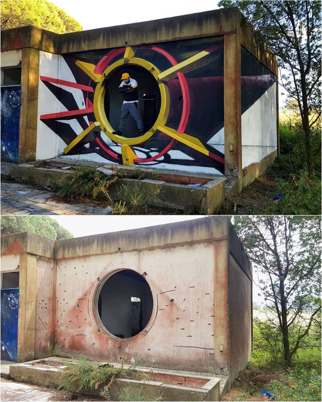 1565697716 9b3d1df44aa505e44b1f6c69ddf90e43 - 20 работ художника, который превращает невзрачные стены в невероятно реалистичные 3D-граффити