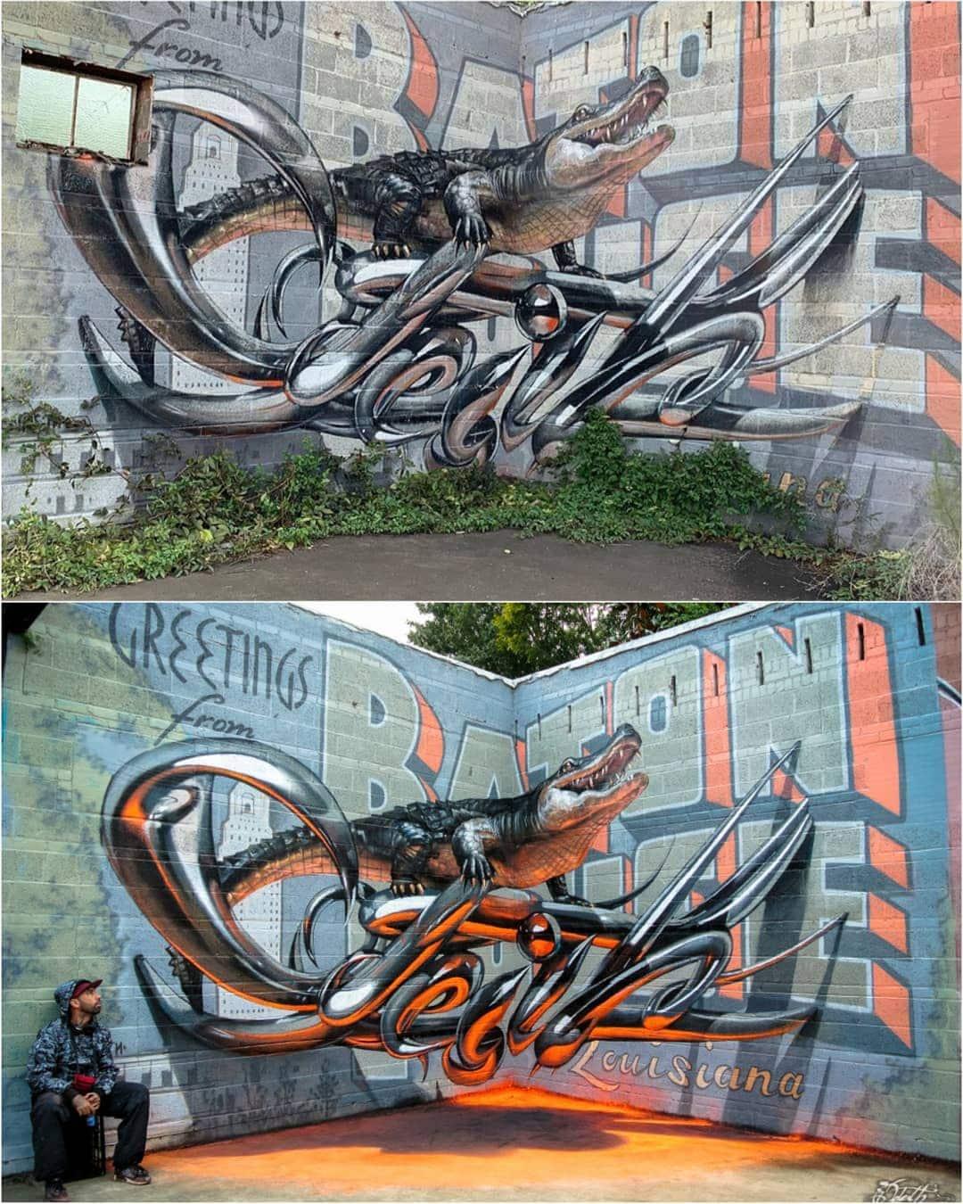1565697718 685d1fe65cc48ac3625c0c8439b9bc02 - 20 работ художника, который превращает невзрачные стены в невероятно реалистичные 3D-граффити