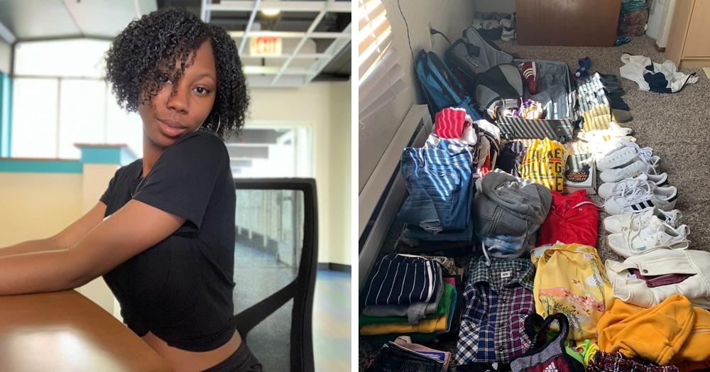 Девушка показала, как сложить целую комнату вещей в одну сумку. В Твиттере отказываются в это верить
