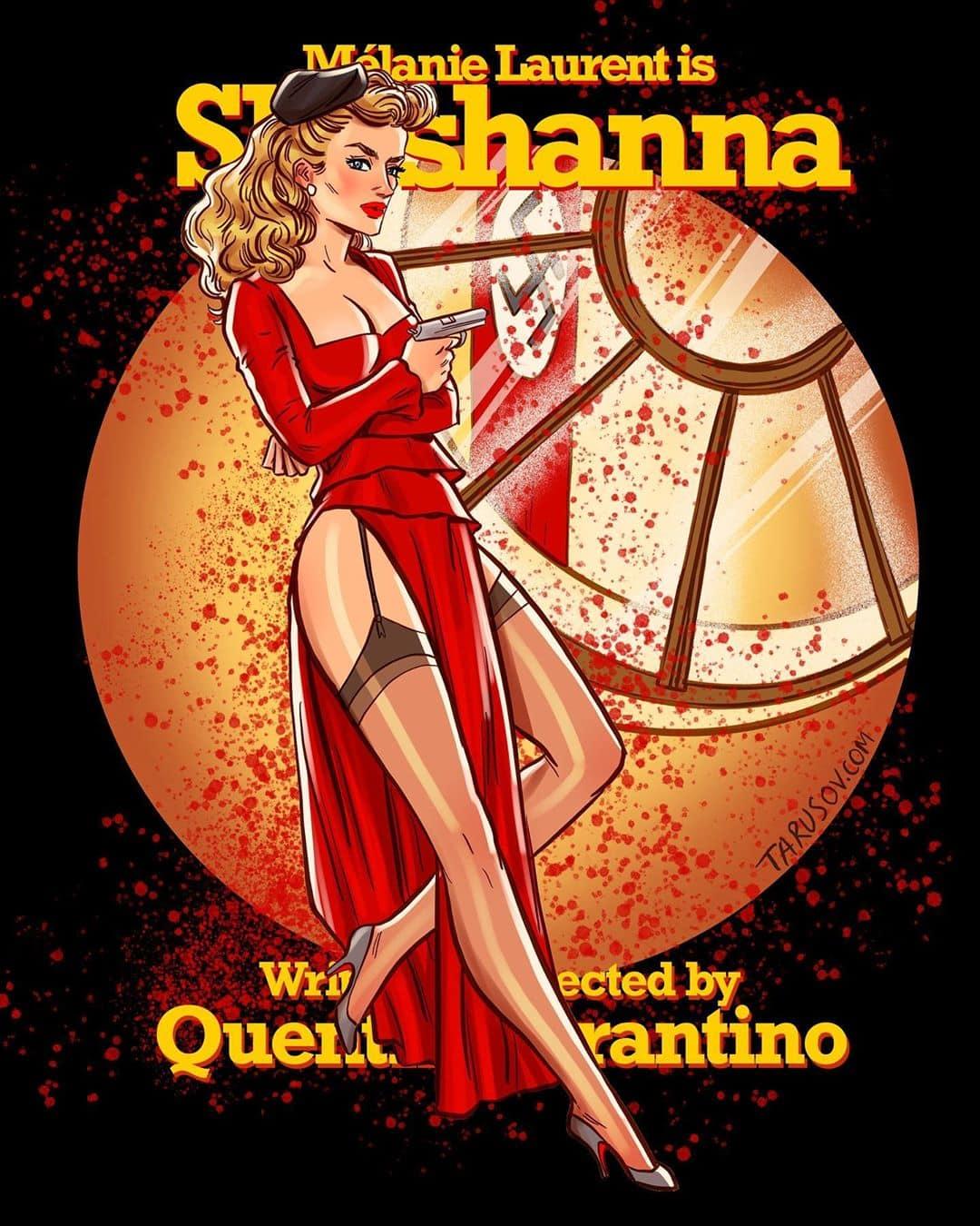 1566288658 dd77e996628b642798f4cfe33373837b - 17 героинь фильмов Тарантино, которых художник из России превратил в ярких пин-ап красоток