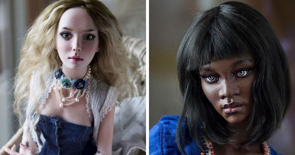 Пара художников из России создаёт реалистичные куклы, глядя на которые кажется, что они сейчас моргнут