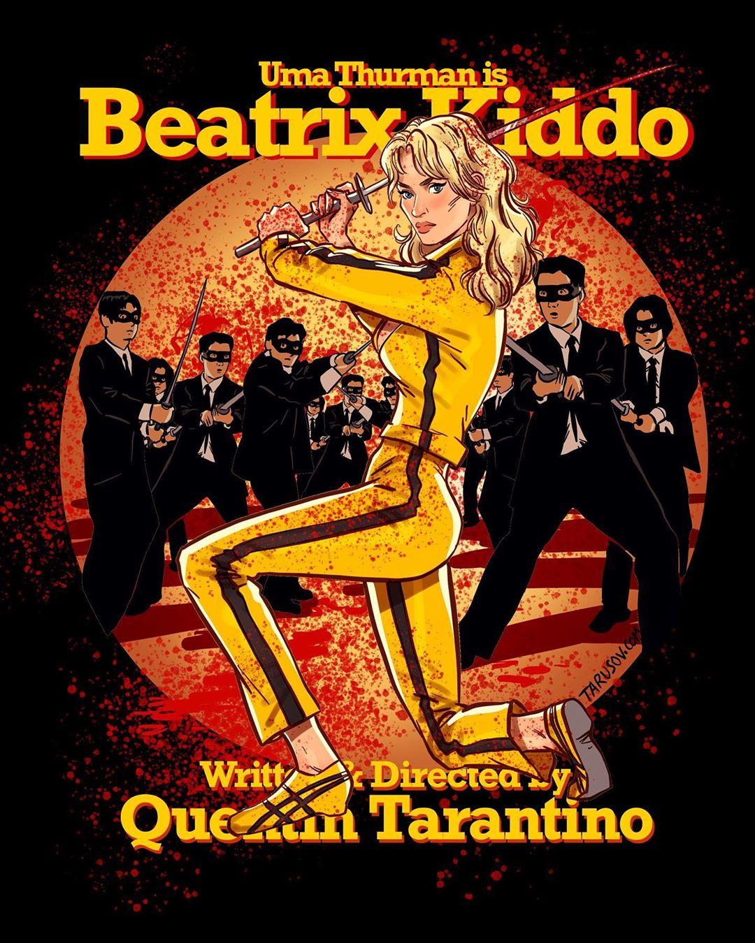 1566289158 38bb40c2688ab19c0d577176fcc58d0a - 17 героинь фильмов Тарантино, которых художник из России превратил в ярких пин-ап красоток