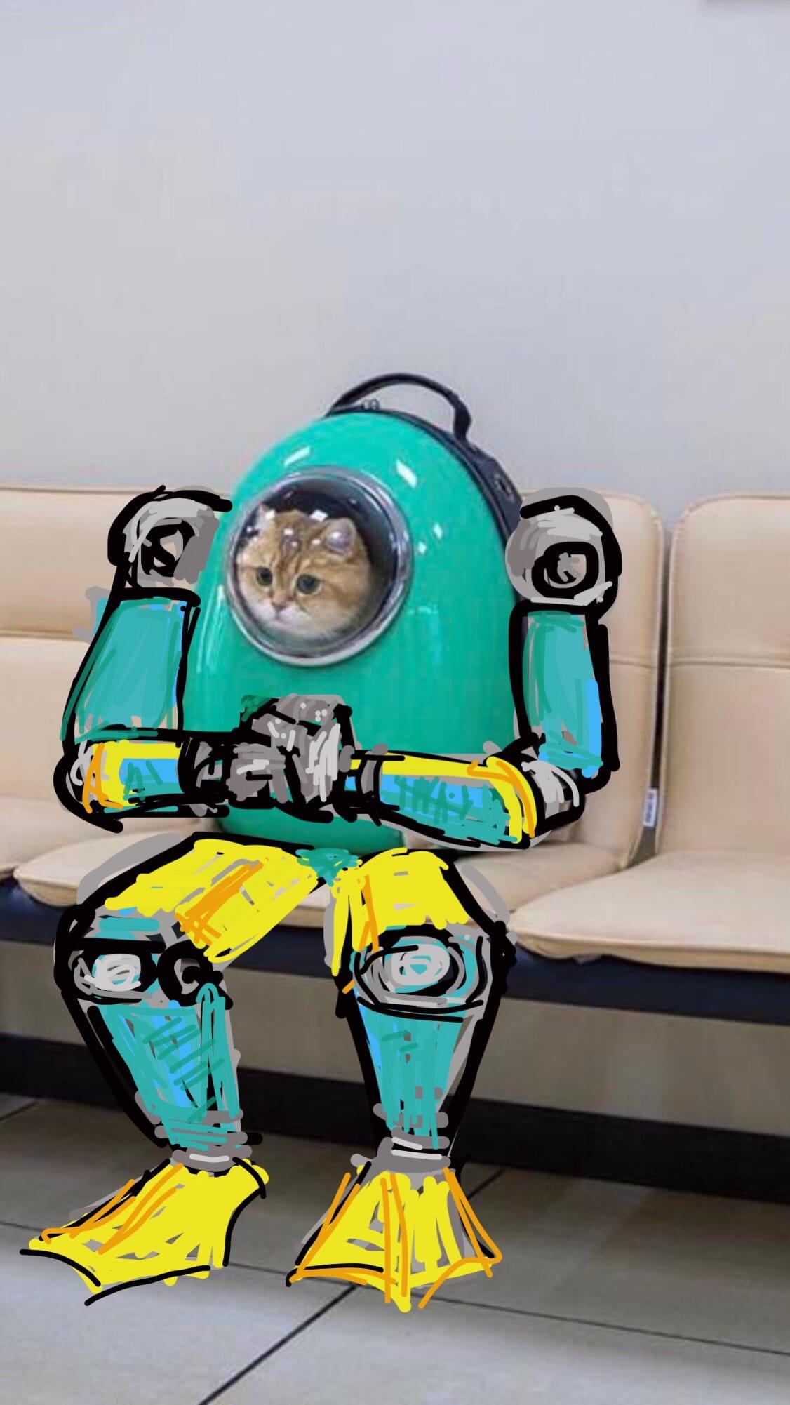 1566804955 056309f0b45556e9714bc1631789d686 - Кот из Москвы стал героем фантастических фотошоп-приключений. А всё благодаря его рюкзаку-переноске