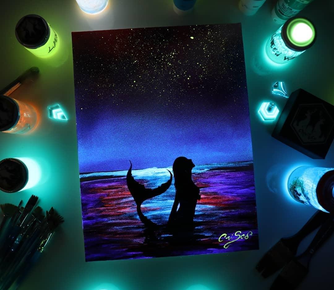 1566887346 f8928e70520c3770f471f5c37638fd3f - 20 рисунков итальянского художника, которые оживают, когда выключается свет