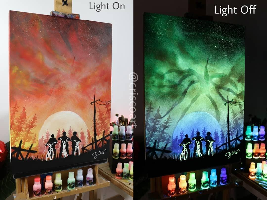 1566887359 ad8d8ca09c7472557ad669543a9a57cd - 20 рисунков итальянского художника, которые оживают, когда выключается свет