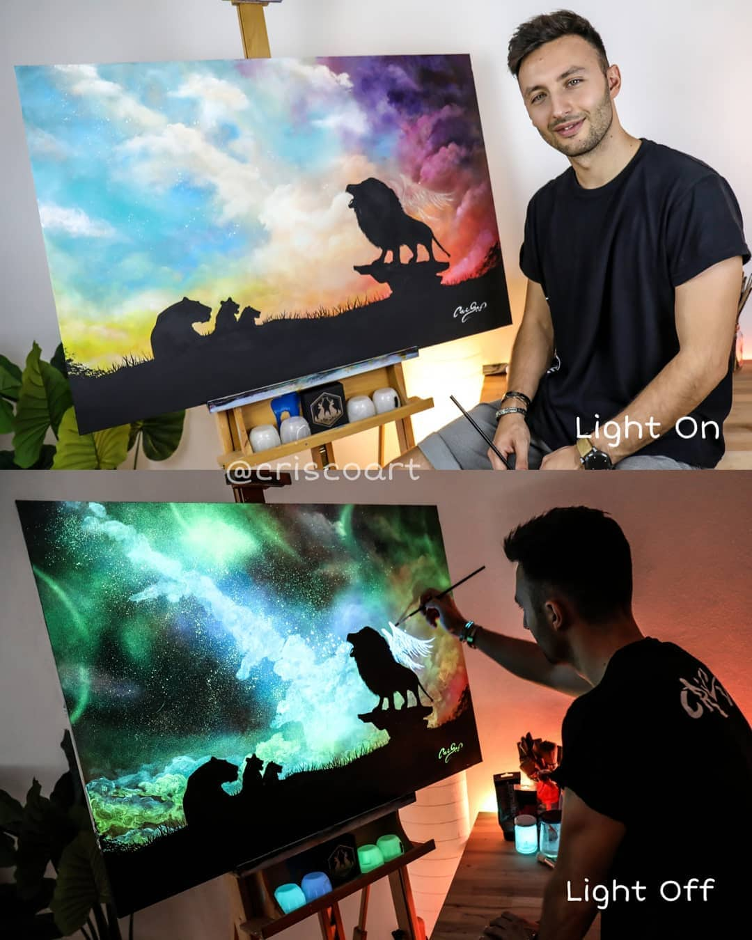1566887362 8c7e19ad4cf3e77cbdc413a22b15ac1a - 20 рисунков итальянского художника, которые оживают, когда выключается свет