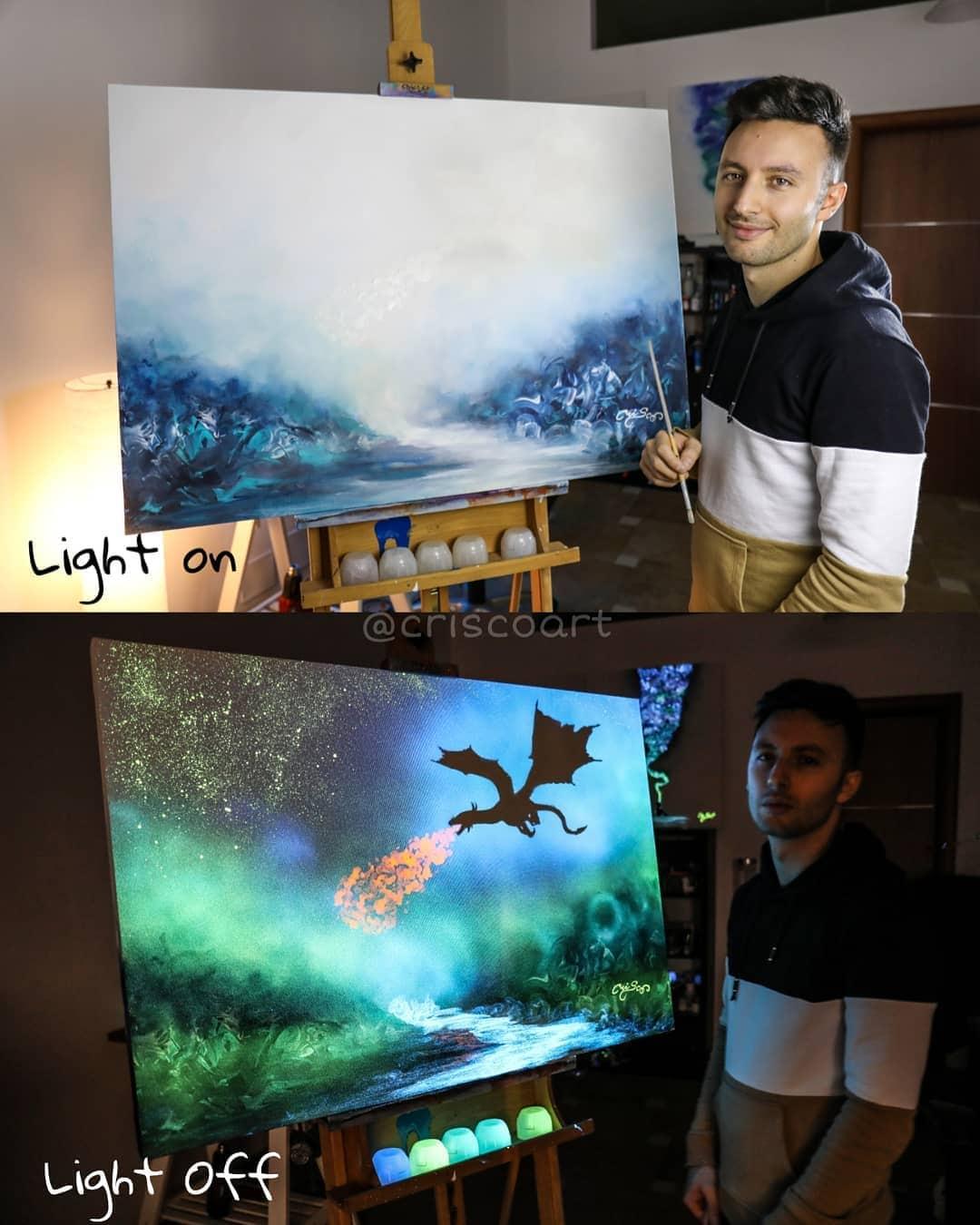 1566887367 9f05e42c50f20bd5681c17874a077a9d - 20 рисунков итальянского художника, которые оживают, когда выключается свет