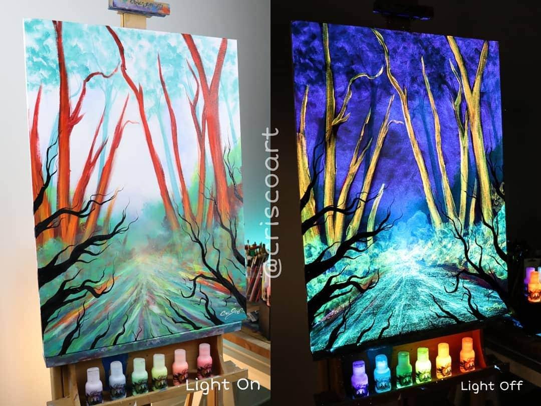 1566887368 ff1f2f01cfef8f68dc19b864bbfe9845 - 20 рисунков итальянского художника, которые оживают, когда выключается свет