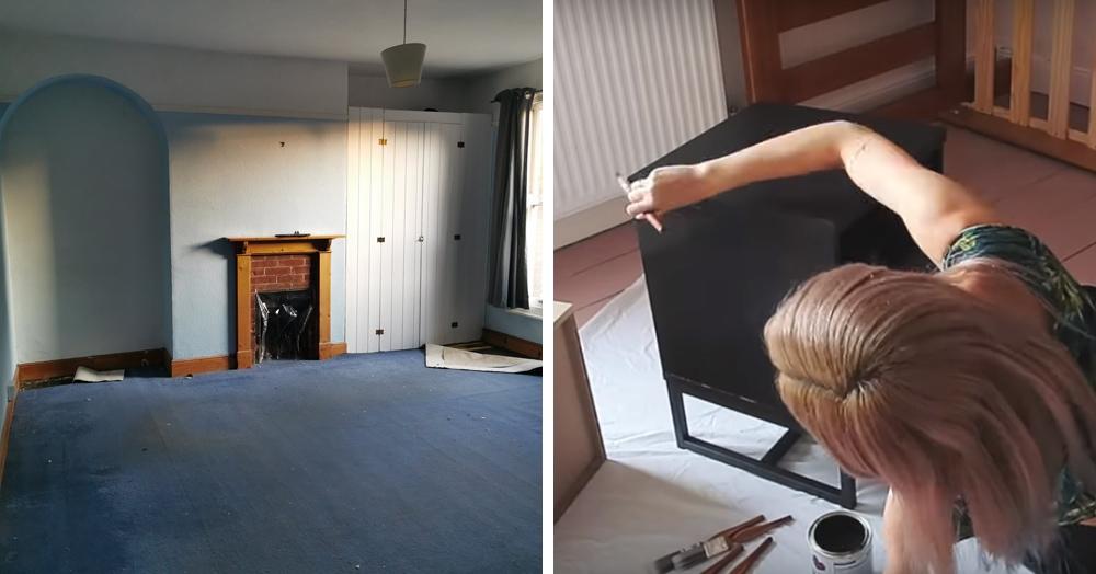 Девушка сделала ремонт за 5 дней, превратив обычную комнату в комнату мечты. Интернет аплодирует стоя