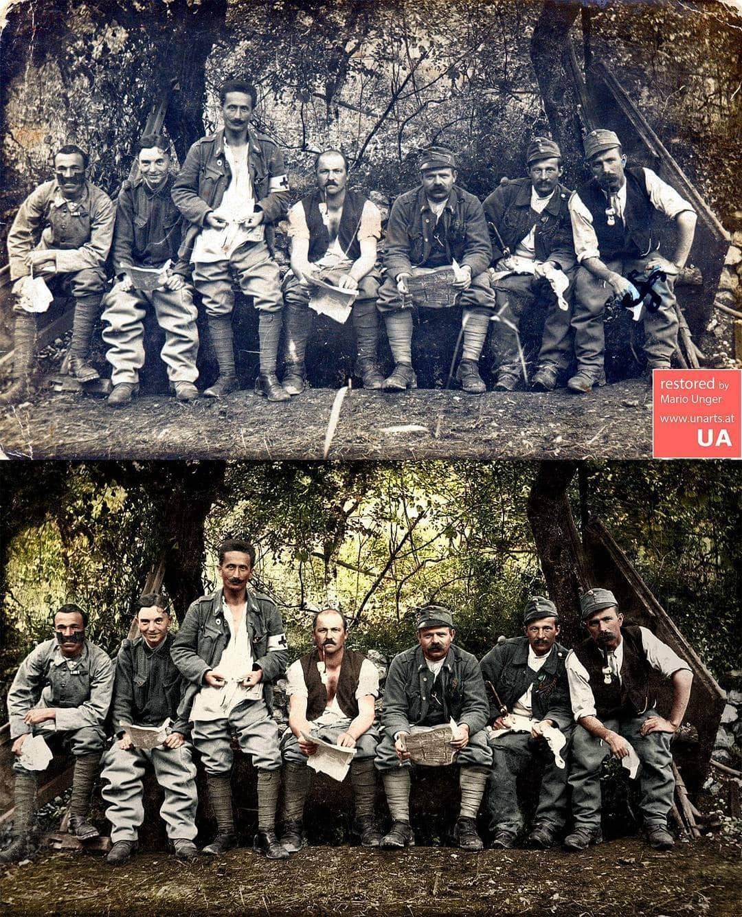 1567001488 31557bf14308823ca3b0e74b5140f2b2 - Фотограф из Австрии восстанавливает порванные и выцветшие снимки, которые другие бы выбросили