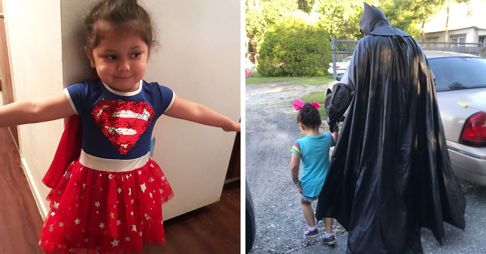 Девочку обижали в садике, но у неё нашёлся защитник. И не кто-то там, а сам Бэтмен!