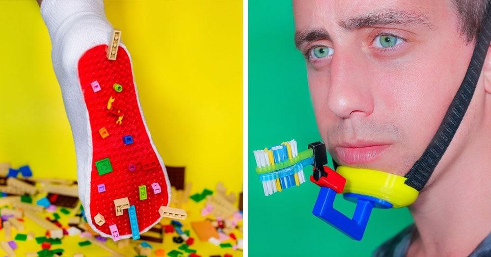 18 бесполезных изобретений от дизайнера, который придумывает проблемы ради их решения