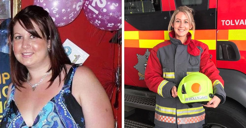 Британка два года худела ради работы пожарным и так преуспела, что теперь она сама — огонь
