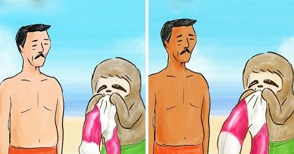 25 комичных иллюстраций японского художника о неспешных буднях ленивцев, живущих среди людей
