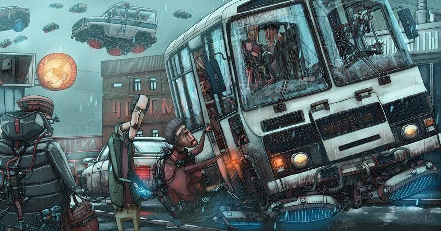 Иллюстратор из Красноярска рисует Россию в фантастических стилях, используя образы из поп-культуры