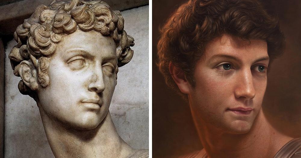 Художник показал, как могли выглядеть в жизни люди, которых мы видим на картинах и скульптурах