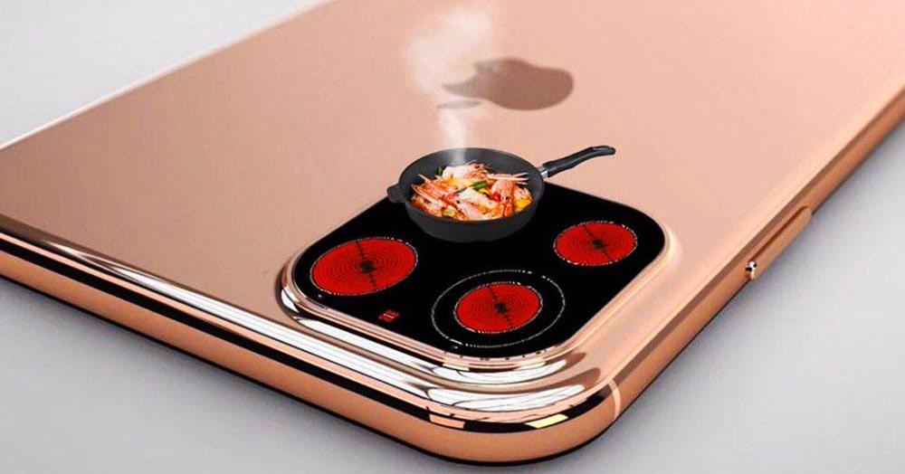 Apple показала iPhone c тройной камерой. Трипофобы в шоке, а в сети её сравнивают с кокосом и плитой