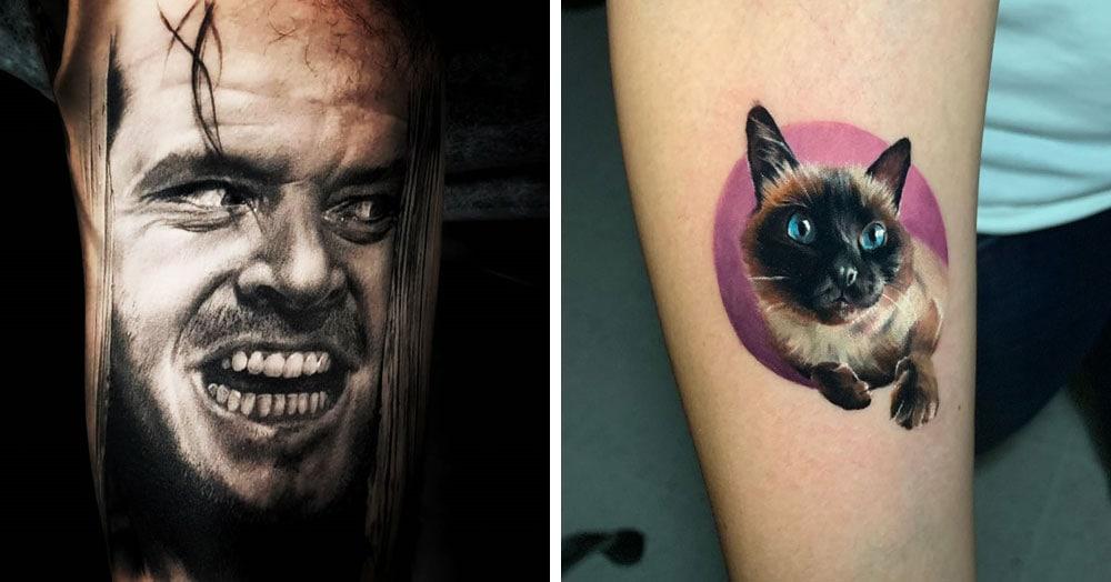 18 крутых татуировок, которые впечатляют своей реалистичностью