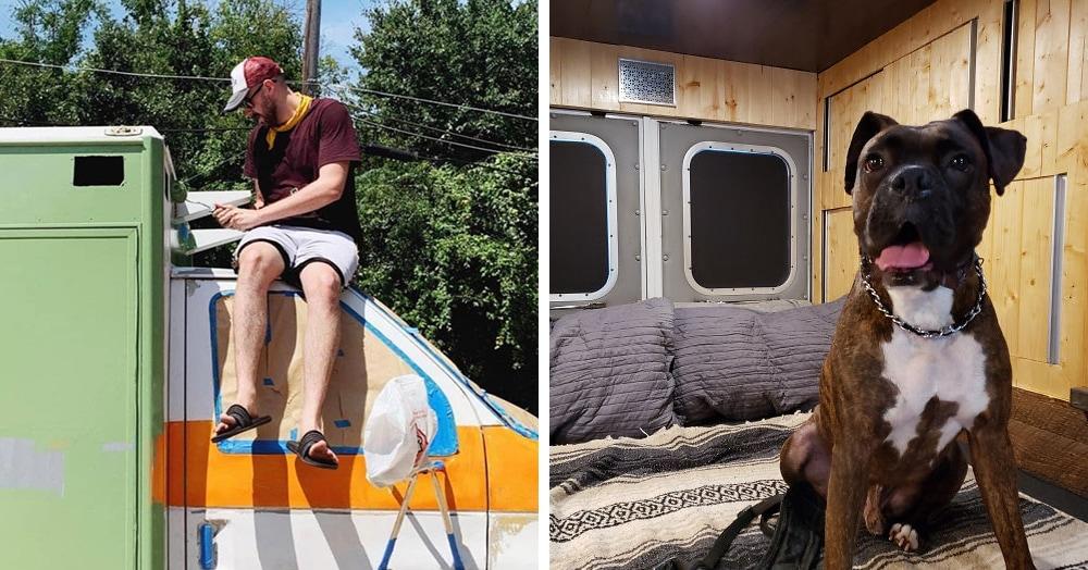 Парень переделал машину скорой помощи в дом на колёсах, и теперь у него внутри уют и комфорт