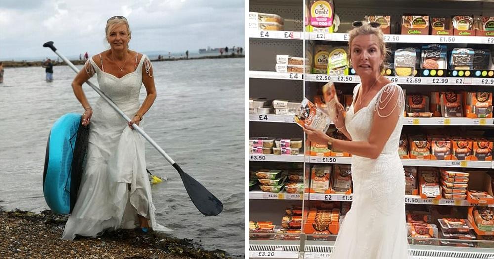 Британка не хотела убирать в шкаф свадебное платье, и решение нашлось. Теперь она носит его везде