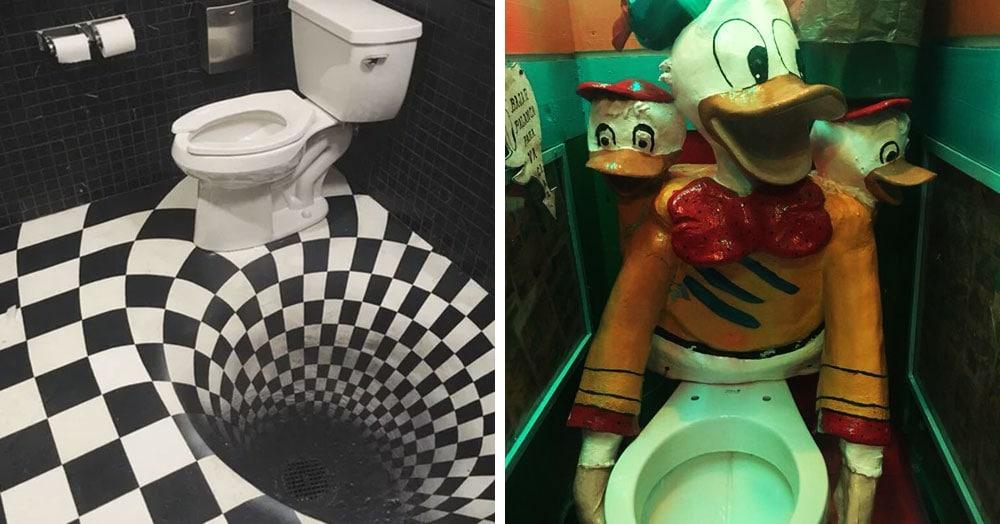 20 необычных туалетов, которые выглядят странно и немного пугающе