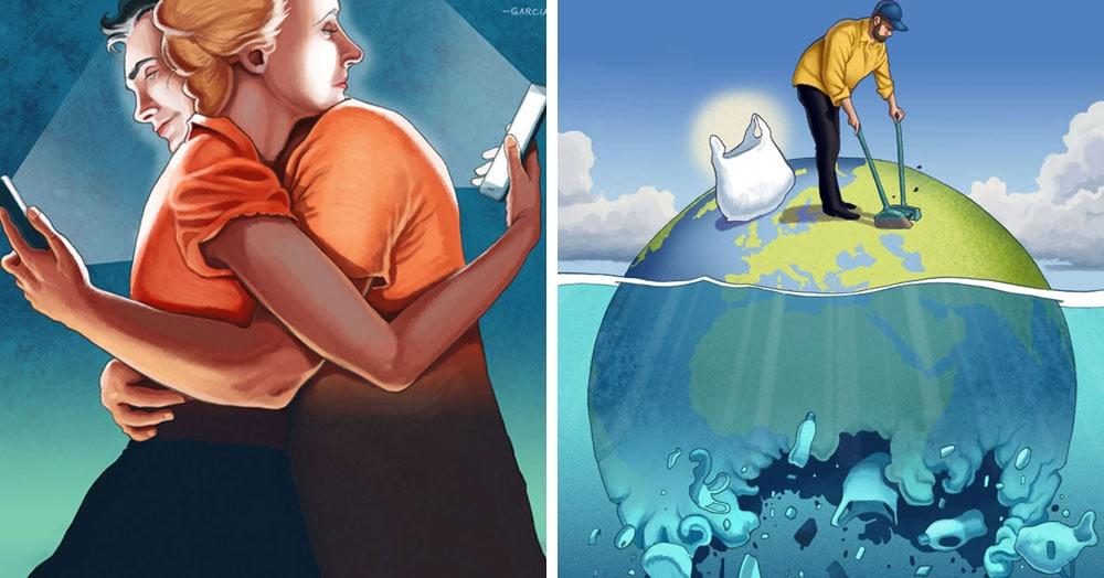 23 правдивые иллюстрации, которые показывают все болячки современного общества