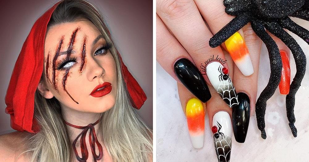 20 страшно крутых идей для макияжа и маникюра на Хеллоуин