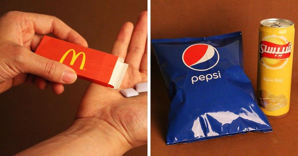 Художник из Египта представил, как выглядели бы известные логотипы на несвойственных им продуктах