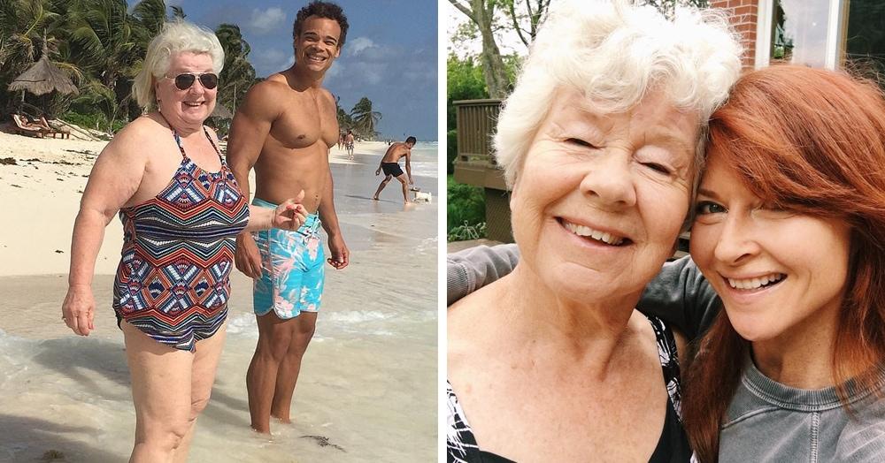 Бабуля всю жизнь боролась с лишним весом, пока не купила смартфон. Быть красоткой никогда не поздно!