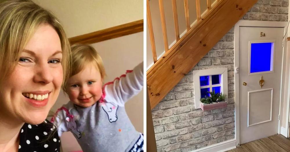 Британка сделала комнату для дочки в чулане. Но страдания Гарри её не ждут, ведь это домик её мечты!