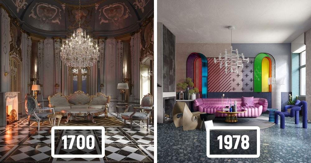 Дизайнеры показали, как менялись стили интерьера гостиной в течение последних 500 лет