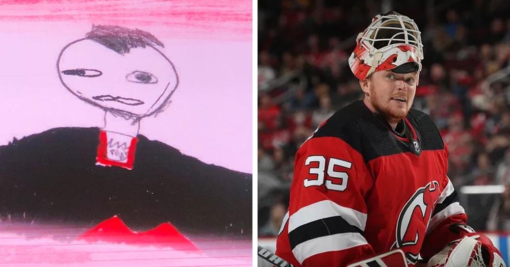 Хоккеистов перед матчем представили детскими рисунками, и они вызывают смех и умиление одновременно