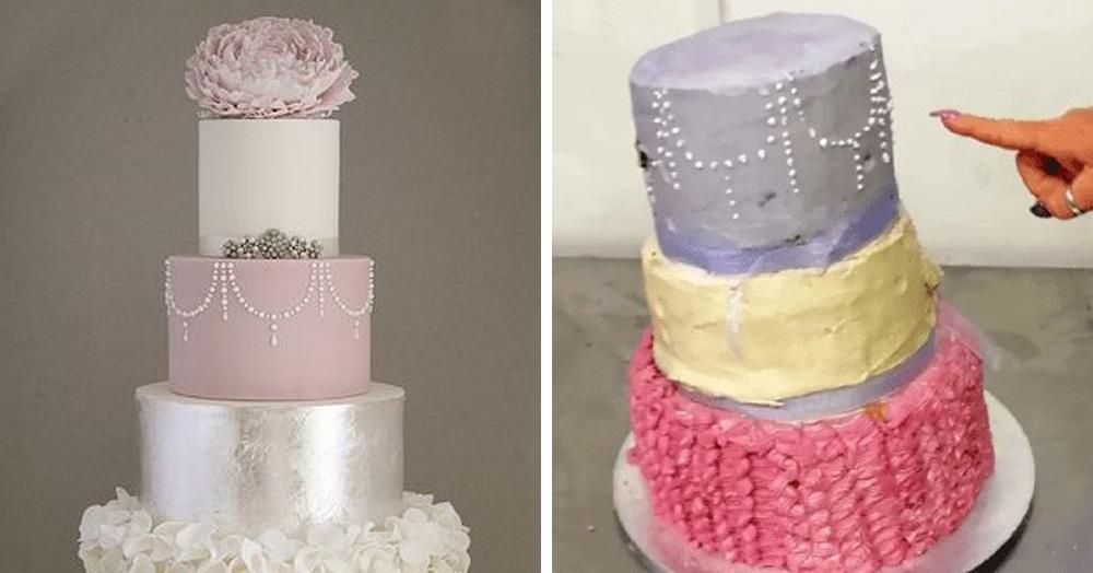 Британка заказала стильный свадебный торт, но то, что она получила — настоящее фиаско