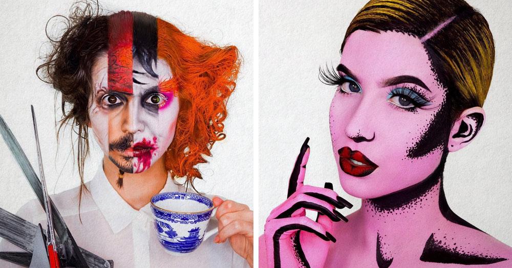 Две сестры настолько круто овладели искусством макияжа, что их работы можно принять за фотошоп