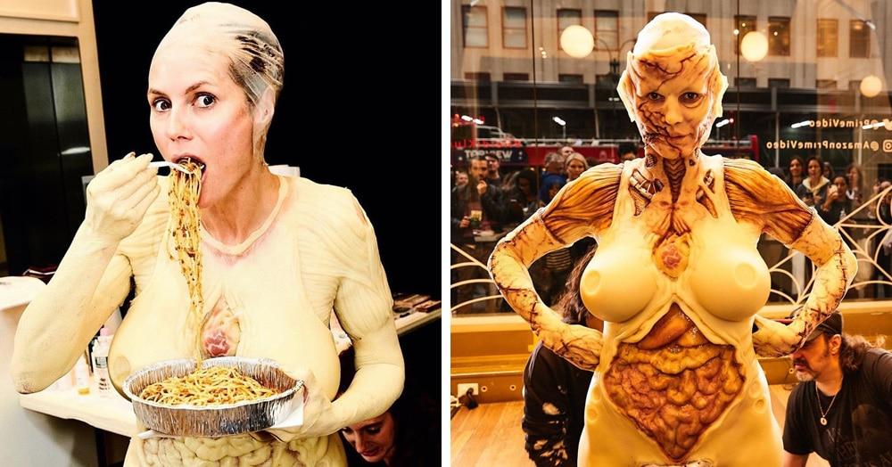 Хайди Клум показала свой костюм на Хеллоуин. И она снова королева этого праздника!