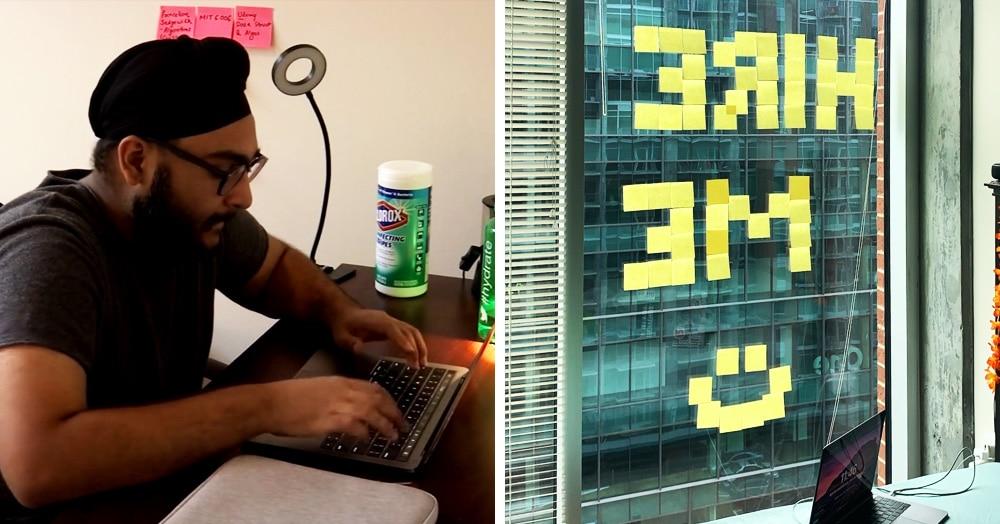 Студент в шутку попросился работать в офис по соседству с помощью стикеров на окне — и его взяли!