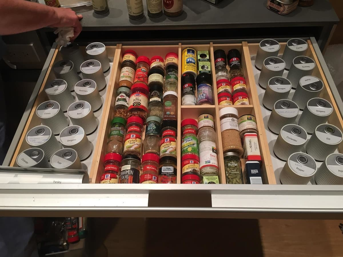 Congrats on having the neatest looking drawer of spices we've ever seen.