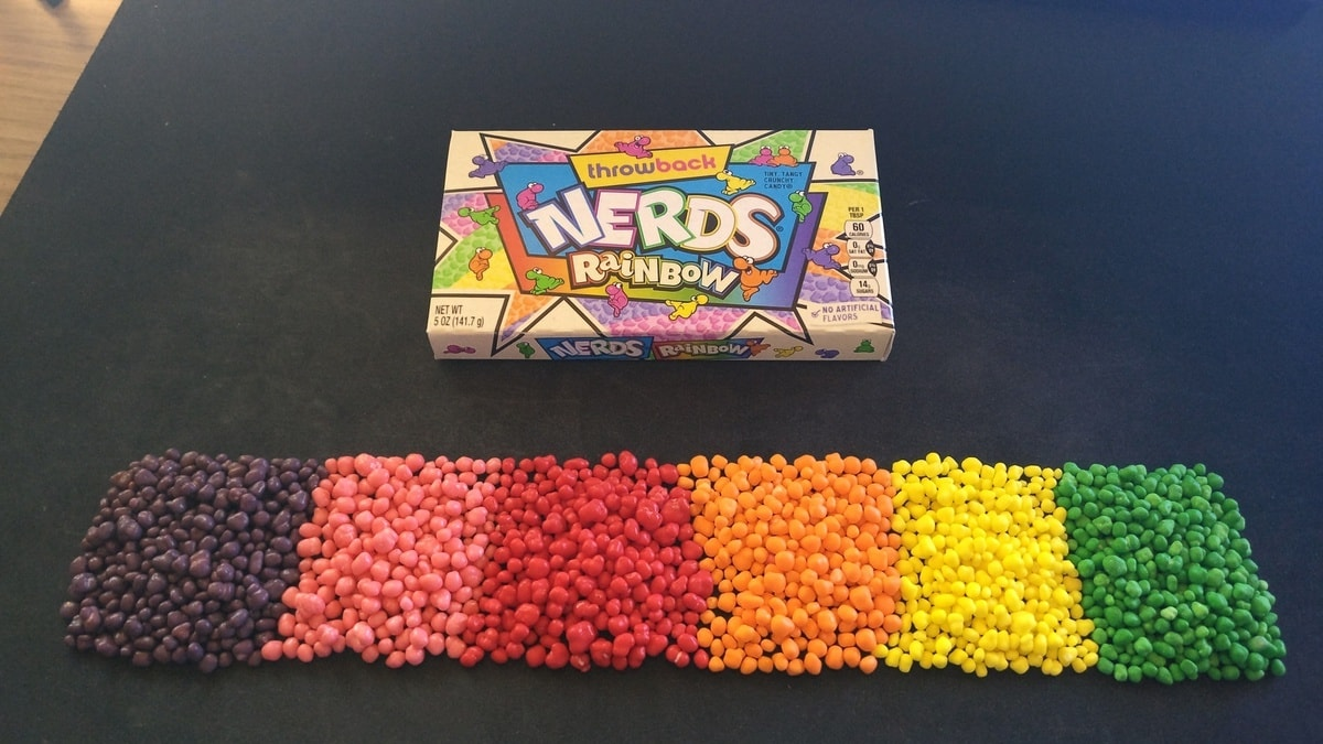 If you thought a box of Nerds was already color coded, guess again.