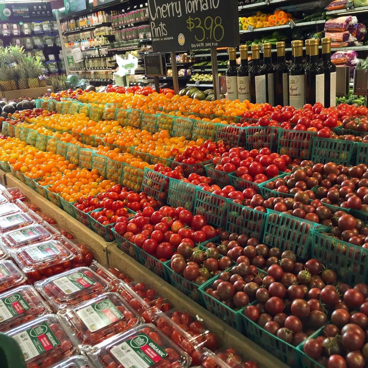 A customer walking into this store might feel self-conscious about pinching a tomato.