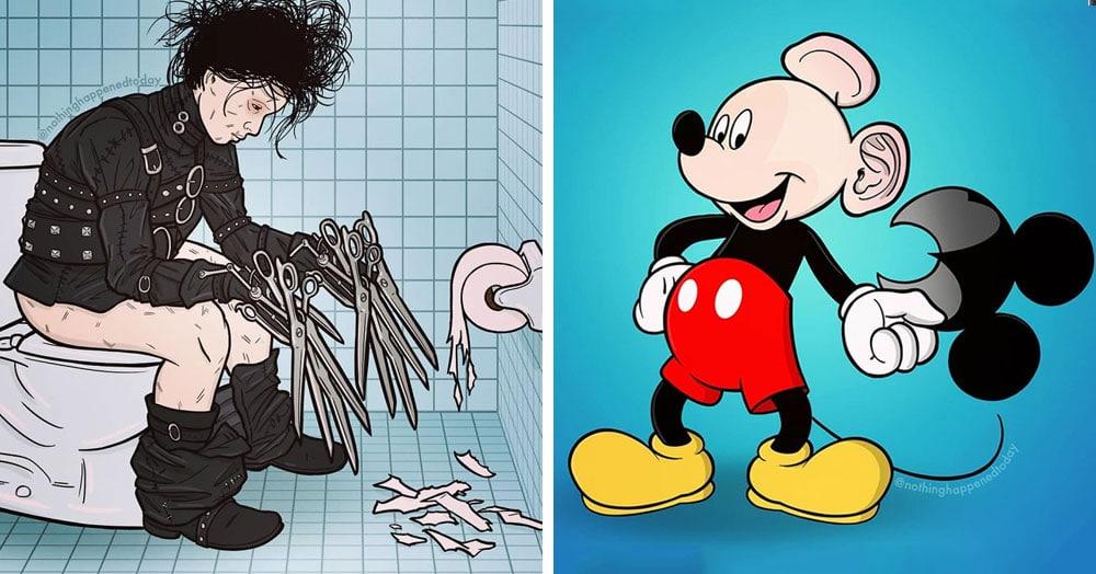 25 иллюстраций, которые раскрывают маленькие секреты героев популярных кино и мультфильмов