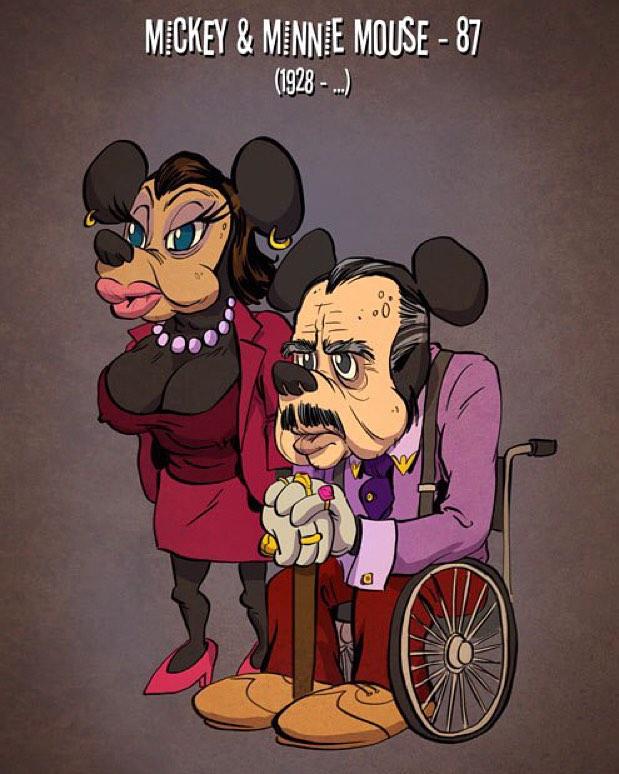 1573216014 8d63d52be5142c1b1926e08da048ecea - Художник представил, как выглядели бы герои знаменитых мультиков в старости