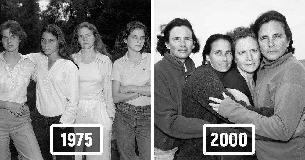 Фотограф каждый год снимал четырёх сестёр и показал, как они менялись на протяжении 40 лет