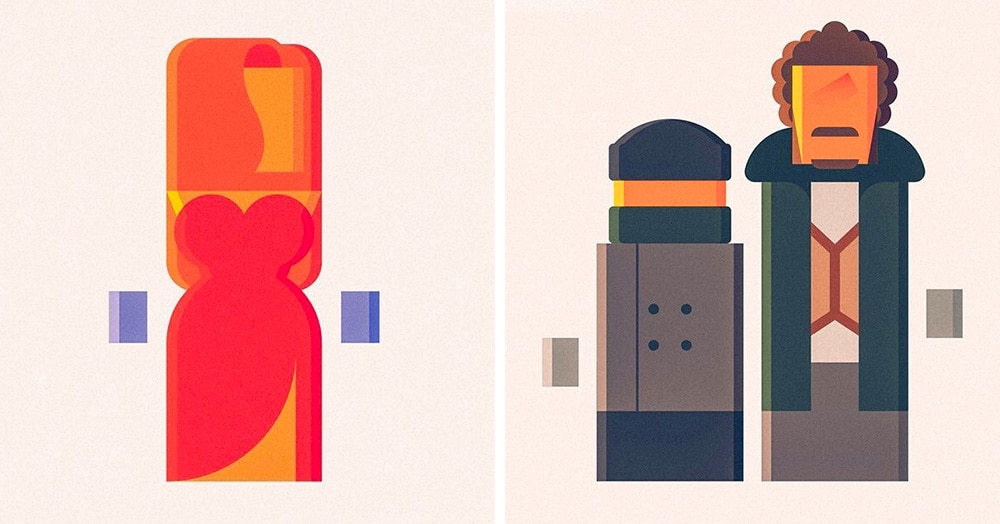 Угадайте знаменитых персонажей кино по минималистичному рисунку