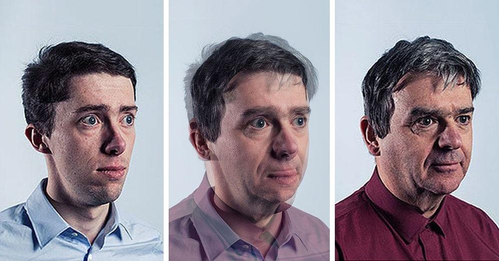 Фотограф заснял отцов и их сыновей, а потом показал на коллаже их сходства и различия