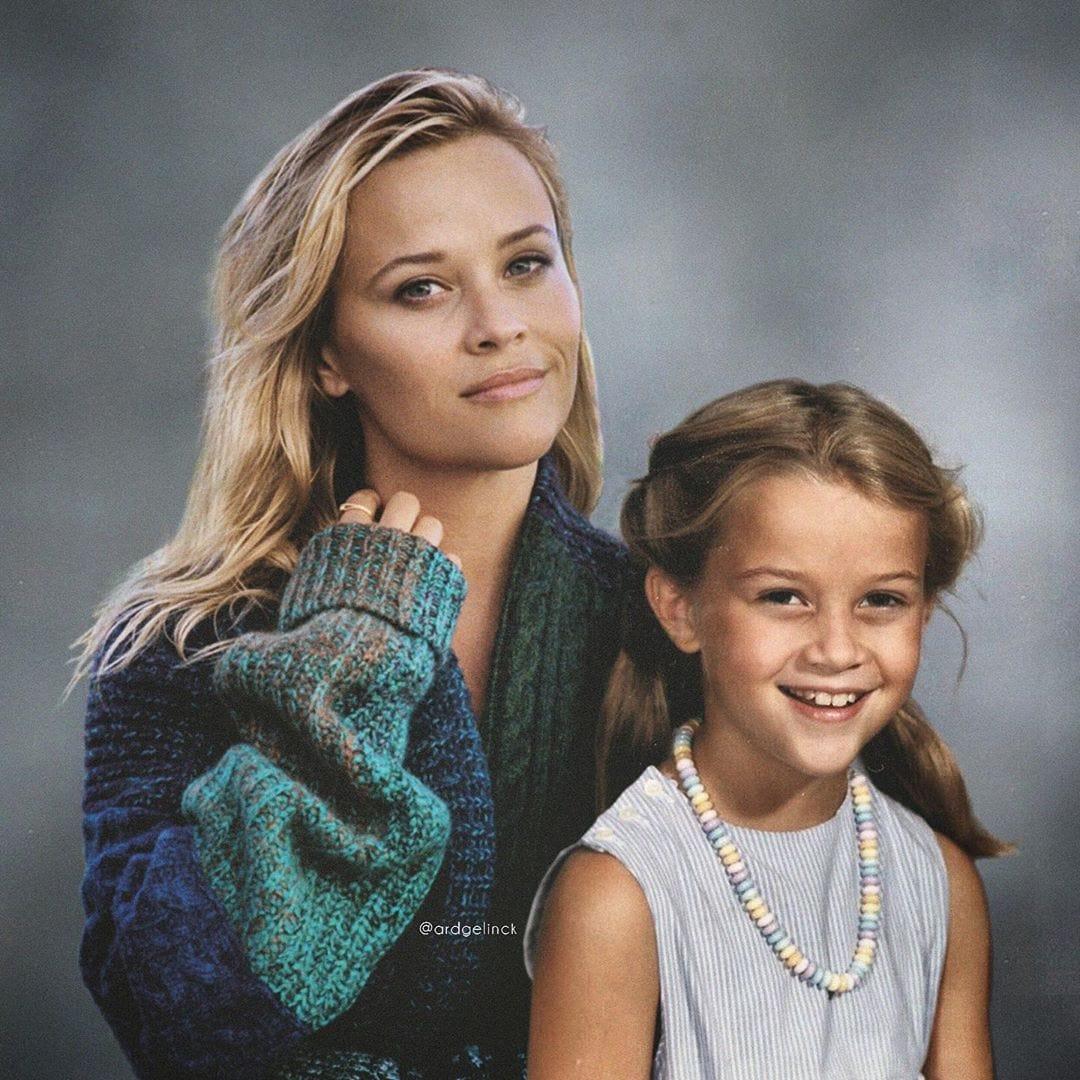 1573719795 4250911acfc6acf6b296f90a5e8de5d2 - 23 знаменитости, которых фотошопер поместил на один снимок рядом с их же более молодыми портретами